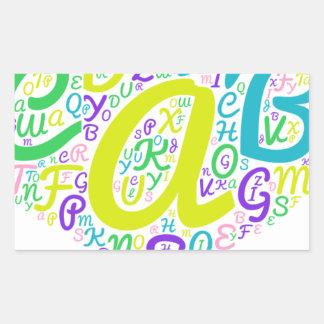 love alphabet sticker