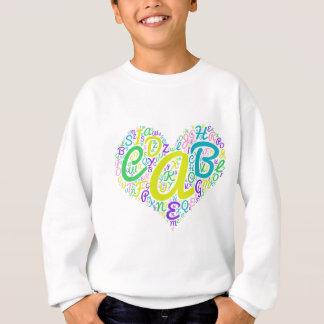 love alphabet sweatshirt