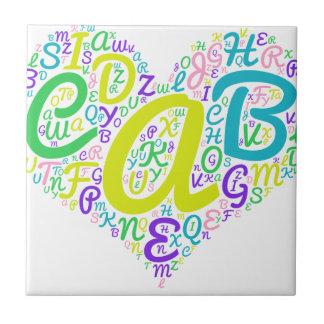 love alphabet tile