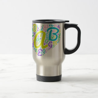love alphabet travel mug