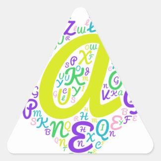 love alphabet triangle sticker