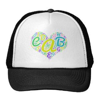 love alphabet trucker hat