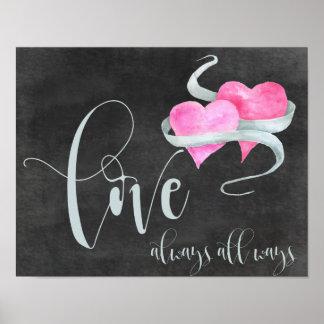*love always all ways printable art poster