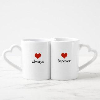 love always and forever coffee mug set