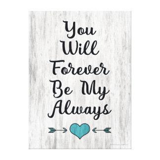 Love Always Forever Barnwood Wall Art