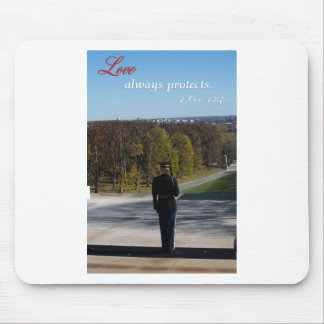 love always protects mouse pad