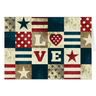 Love America Patriotic Card