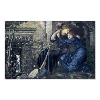Love Among The Ruins by Burn-Jones (1873) Poster