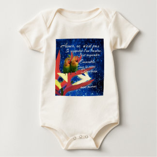 Love , Amour, message Baby Bodysuit