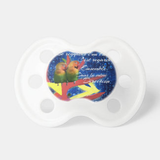 Love , Amour, message Pacifier
