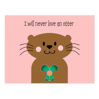 Love An Otter Post Card