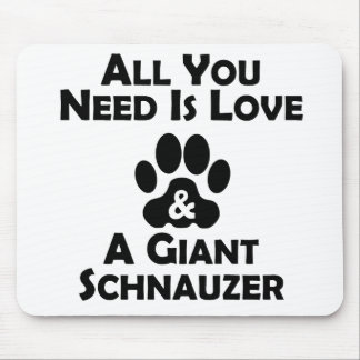 Love And A Giant Schnauzer Mouse Pad