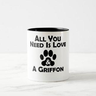 Love And A Griffon Two-Tone Coffee Mug