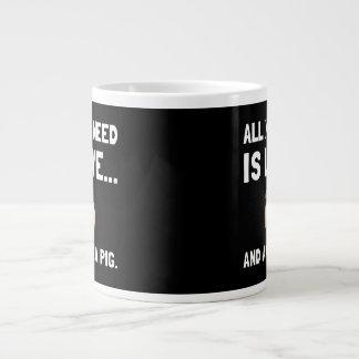 Love And A Guinea Pig Large Coffee Mug