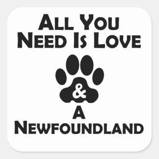 Love And A Newfoundland Square Sticker