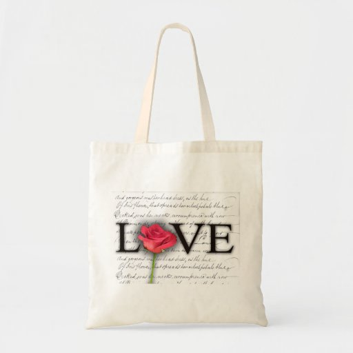 Love and a rose bag