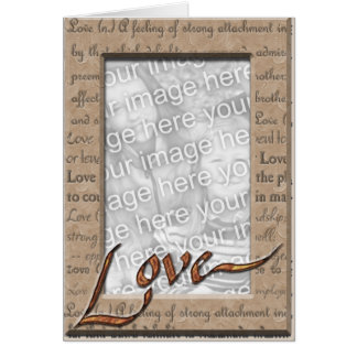 Love and Cherish Photo Greeting Card