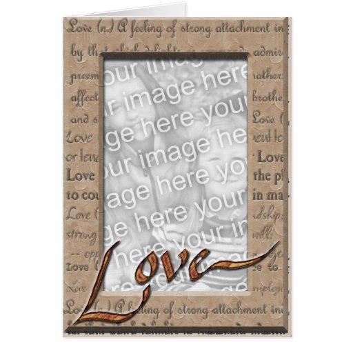 Love and Cherish Photo Greeting Card