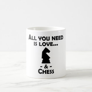 Love And Chess Magic Mug
