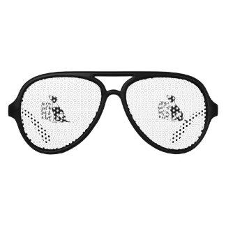 Love and Dog Aviator Sunglasses