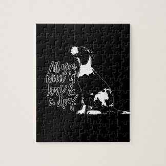 Love and Dog Jigsaw Puzzle