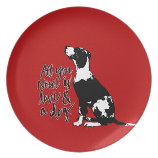 Love and Dog Plate