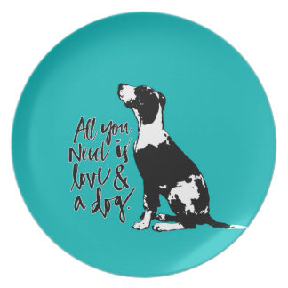 Love and Dog Plates