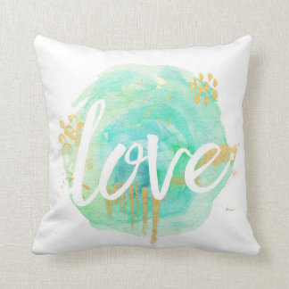 Love and Dream Watercolor Pillow