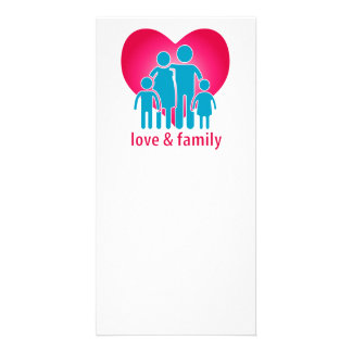 Love and family photo card