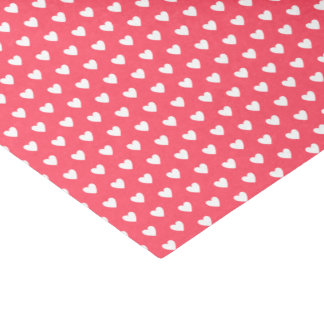 Love and Friendship White Hearts on Red Tissue Paper