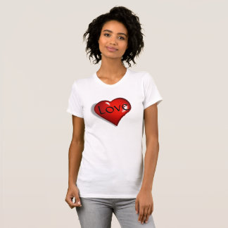 Love and Heart Lady's T-Shirt