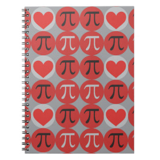 Love and Hearts Pi Spiral Note Book