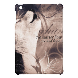 love and Hope Siberian husky iPad Mini Cover
