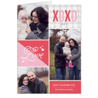 Love and Hugs Photo Valentine Greeting Card
