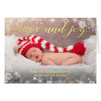 Love and Joy Christmas Holiday Photo Card