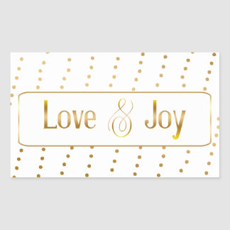 Love and Joy Gold Typography Sticker