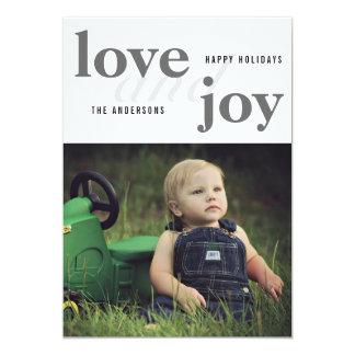 Love And Joy   Happy Holidays   Photo Card