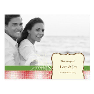 Love and Joy in Houndstooth Postcard