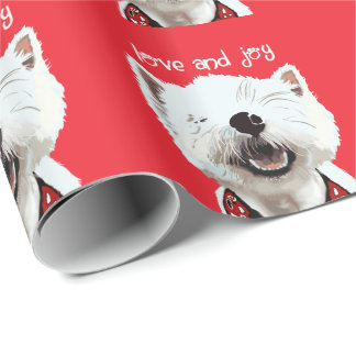 Love and Joy Westie Wrapping Paper