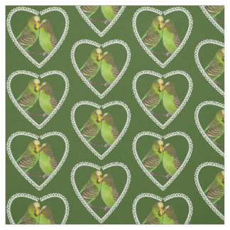 Love and Kisses Fabric (Dark Green)