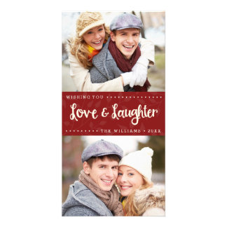 Love and Laughter Vertical Holiday Photo Card