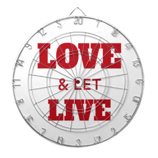 Love And Let Live Dartboard