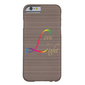 Love and Light gold rainbow brown wood grain Barely There iPhone 6 Case