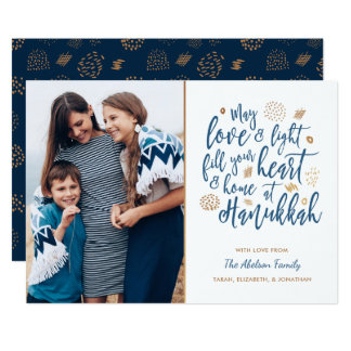 Love and Light Hanukkah Photo Card