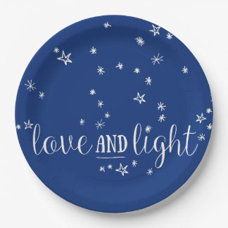 Love and Light Holiday Paper Plates