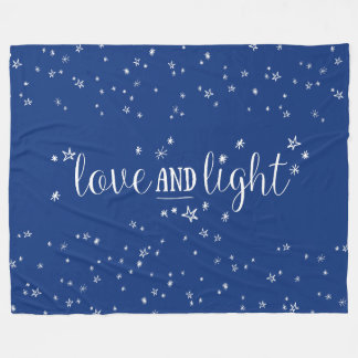 Love and Light Stars Holiday Fleece Blanket