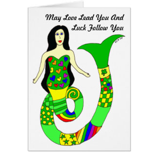 Love and Luck Mermaid St. Patrick's Day Card