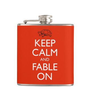 Love And Other Fables Keep Calm Flask