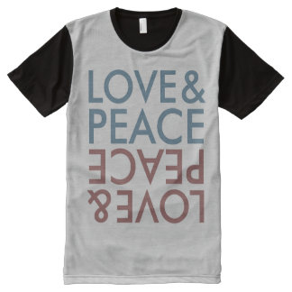 Love And Peace All-Over-Print T-Shirt