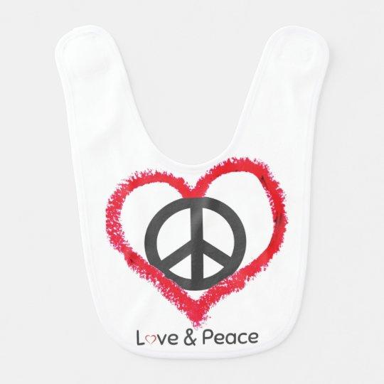 Love and Peace Baby Bib